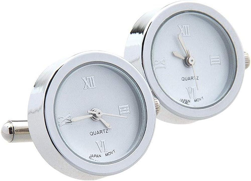Gemelos De Reloj De Cuarzo De Acero Inoxidable Relojes Movimiento De Reloj Movimiento De Reloj ElectróNico Pernos Prisioneros (Blanco)