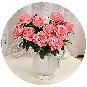 1 Bouquet Artificial Flower 9 Heads Rose DIY Fake Silk Flower for Home Decorative Wedding Holiday Decoration 27
