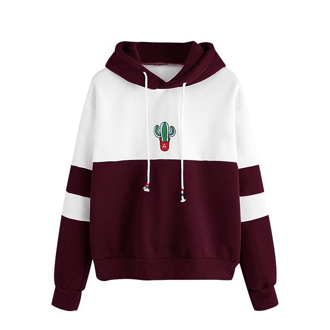 Amazon.com: Sinfu Womens Long Sleeve Cactus Print Hoodie Sweatshirt Hooded Pullover Tops Blouse by: Clothing