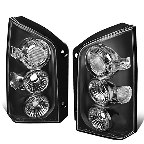 For 2005-2012 Nissan Pathfinder Pair Black Housing Altezza Style Tail Light Brake/Parking Lamps