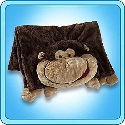 The Original My Pillow Pets Monkey Blanket (Brown): Toys & Games