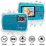 [Updated 2019 Model] ISHARE Kids Camera, Waterproof Kids Camera Best Gifts for Girls/Boys 21MP HD Underwater Digital Camera with 2.0
