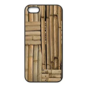 super shining day Nature Bamboo Wall TPU Material Phone Back Case Compatible with iPhone 5/5S