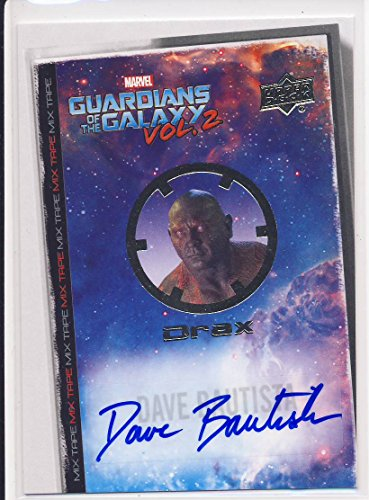 2017 Guardians of the Galaxy Series 2 Trading Card Set Autograph MT1 Dave Bautista as Drax