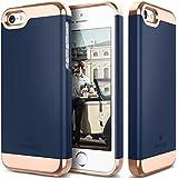 iPhone SE Case, Caseology® [Savoy Series] Chrome / Microfiber Slider Case [Navy Blue] [Premium Rose Gold] for Apple iPhone SE (2016) & iPhone 5S / 5 (2013) - Navy Blue