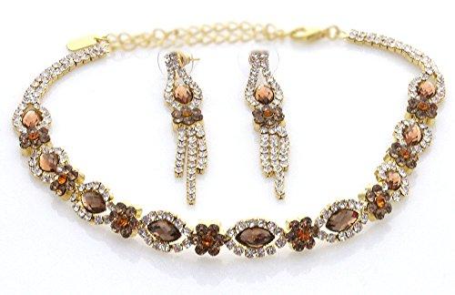Amber Rhinestone Necklace - 5