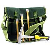 Cornucopia Brands Rockhound & Rock Mining Kit w/Rock Pick Hammer 3 Chisels & Musette Bag (5-Piece Set)
