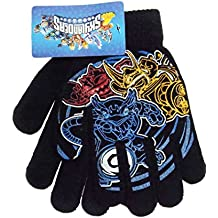 Skylanders Erupter Jet Vac Sonic Boom Black Knit Boys Winter Gloves