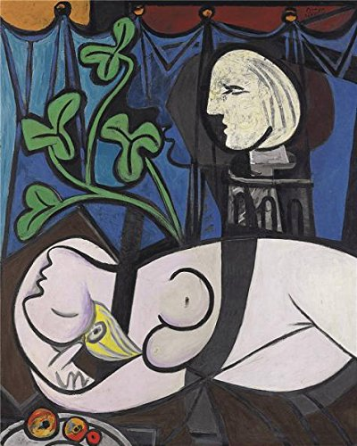 Oil Painting 'Pablo Picasso - Nude, Green Leaves And Bust, 1932' Printing On High Quality Polyster Canvas , 16x20 Inch / 41x51 Cm ,the Best Study Decoration And Home Decor And Gifts Is This Imitations Art DecorativePrints On Canvas