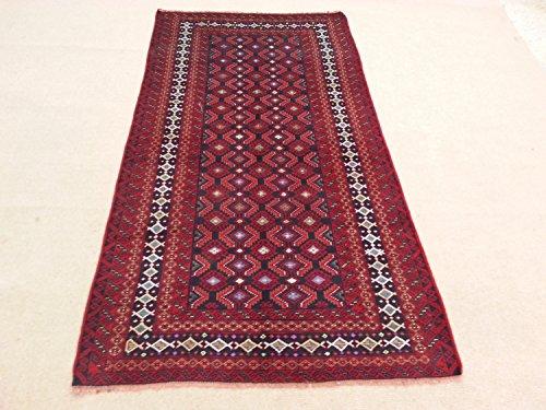 Handcraftigo Size:7.4 ft by 3.11 ft Handmade Rug Afghan Tribal Vintage blue Herati Carpet ()