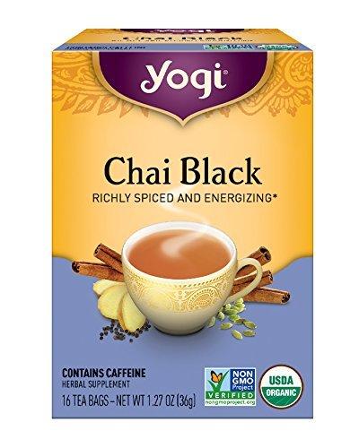 Yogi Tea, Chai Black, 16 Count (Pack of 6), Packaging May Vary