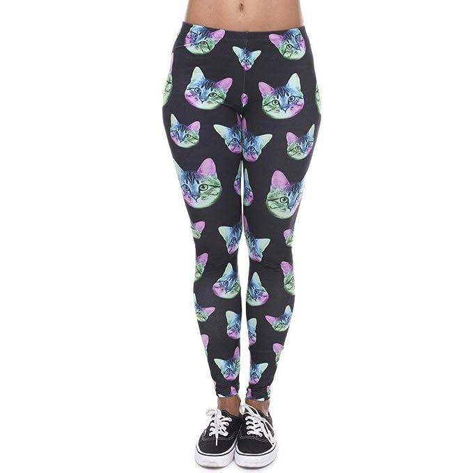Ericcay Pantalones De Yoga Leggings para Mujer Moda Neon De ...