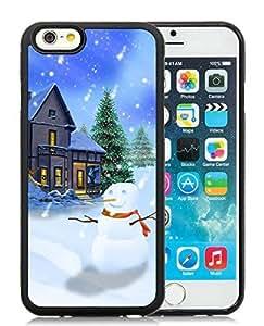 Custom-ized Design iPhone 6 Case,Christmas Snowman Black iPhone 6 4.7 Inch TPU Case 22