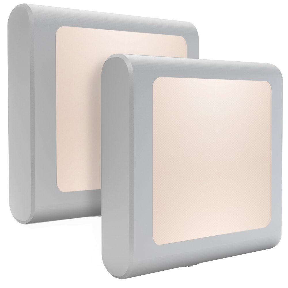 MAZ-TEK Plug-In Led Night Light with Auto Dusk to Dawn Sensor,Adjustable brightness Warm White lights for Hallway,Bedroom, kids Room, Kitchen, Stairway, 2 Pack by MAZ-TEK
