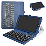 T-Mobile LG G Pad X2 8.0 Plus/Sprint G Pad F2 8.0 Case,Mama Mouth Slim Stand PU Leather Cover with Romovable Wireless Keyboard for LG G Pad X2 8.0 Plus V530 / Sprint G Pad F2 8.0 LK460 Tablet,Blue
