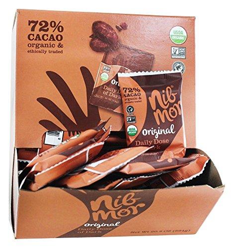 NibMor - Organic Daily Dose of Dark Chocolate Bars Box Original - 60 Piece(s)