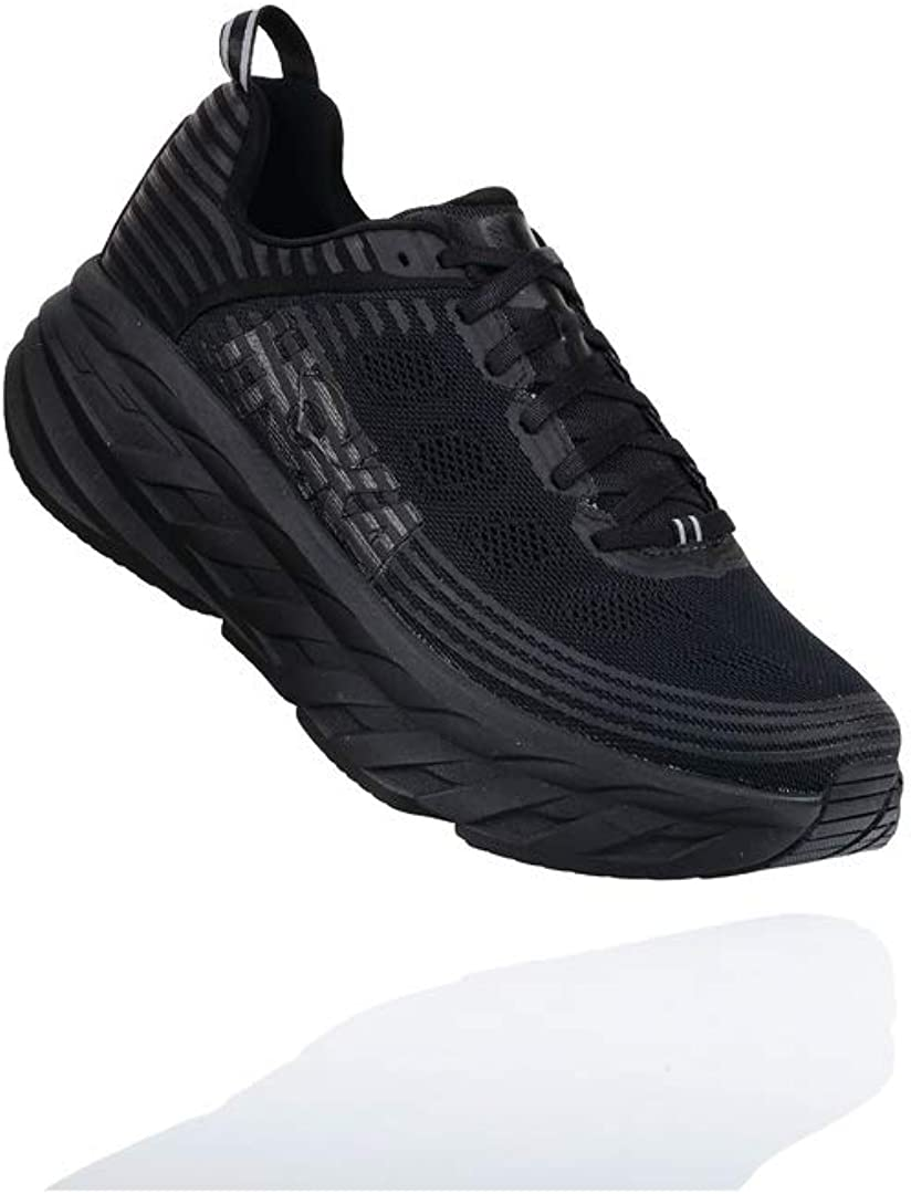 HOKA ONE ONE Men s Bondi 6 Running Shoe, Black Black Size 12 Wide