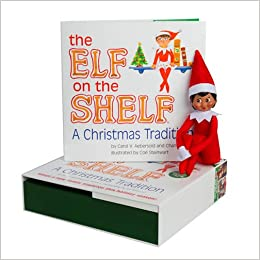 amazon elf on the shelf girl dark doll book carol v aebersold