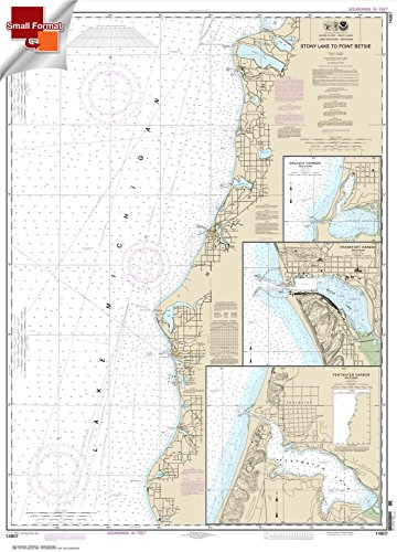 Paradise Cay Publications NOAA Chart 14907: Stony Lake to Point Betsie; Pentwater; Arcadia; Frankfort 21.00 x 29.24 (SMALL FORMAT ()