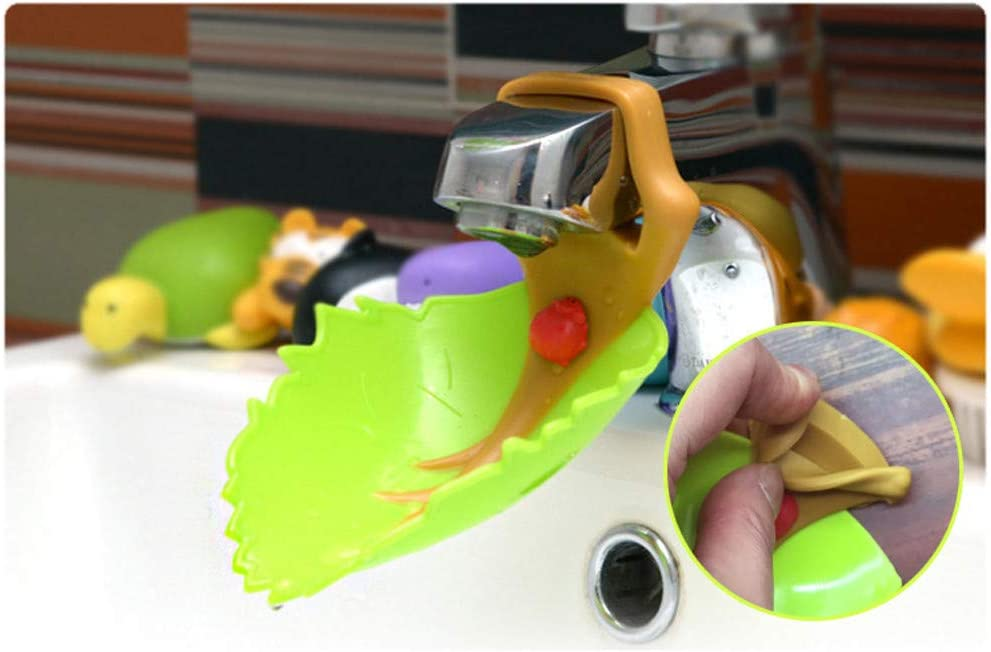 Gaddrt Wasserhahnverl/ängerung 1 ST/ÜCK Wasserhahn Extender Waschbecken Griff Erweiterung Kleinkind Kind Bad Handw/äsche 13.7cm x 8.5cm A