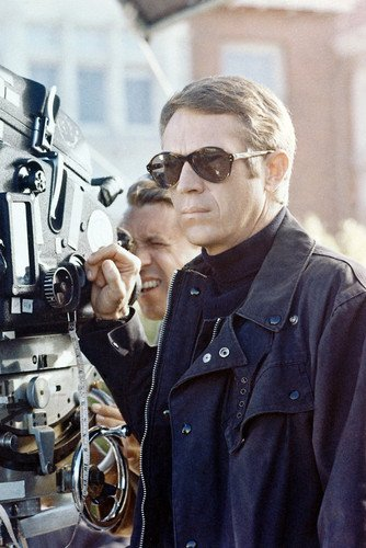 Steve McQueen in Bullitt 24x36 Poster with sunglasses