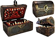 Conjurer Co Mimic Chest Dice Storage Box | DND Lockable Vault | Gift for Dungeons & Dragons Players, Dunge