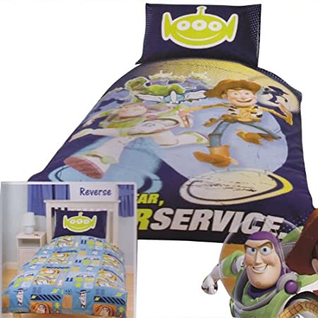 Childrens Kids Toy Story 3 Reversible Quilt Duvet Cover Bedding Set