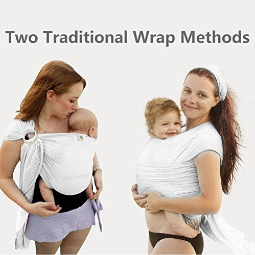 Summer Baby Sling,Water Baby Body Wrap Carrier for Mom and Dad,Boys and Girls,White