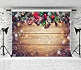 Kate 10x10ft Christmas Backdrop Wood Backgrounds for Studio Photo Props Backgrounds