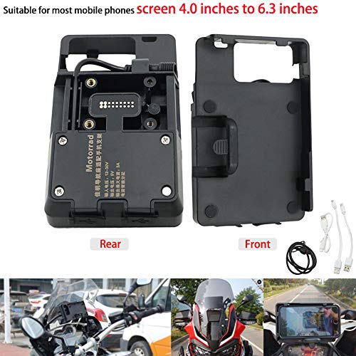 Motoparty R1200GS Mobile Phone GPS Navigation Bracket Accessories For BMW R1200 GS LC ADV 1200 1200GS USB Charger Holder Kit (Mobile Bmw)