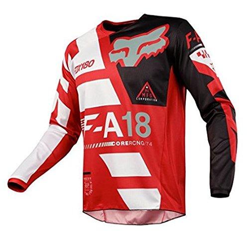 Fox Racing 2018 Youth 180 Sayak Jersey Red- (Youth Dirt Bike Gear)