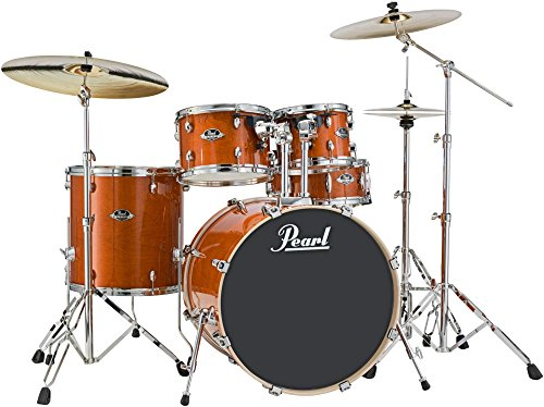 5 Piece Standard Drum Shell - Pearl Export Lacquer EXL725/C249 5-Piece Standard Drum Set with Hardware, Honey Amber