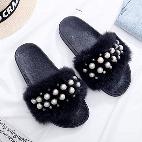 Slippers Bottom Thick Size Flip Soft Pink Pearl 41 36 Women Bottom Furry SGJELU Indoor Large Fur Female Flops Slide Sweet Home SvqUaz