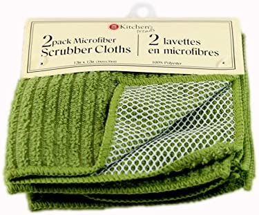 Kit   Household Trends 3 Pack Microfiber Scrubber Clothes