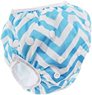 Homyl Baby Cartton Swim Diapers Reuseable Washable & Adjustable for Swimming Le