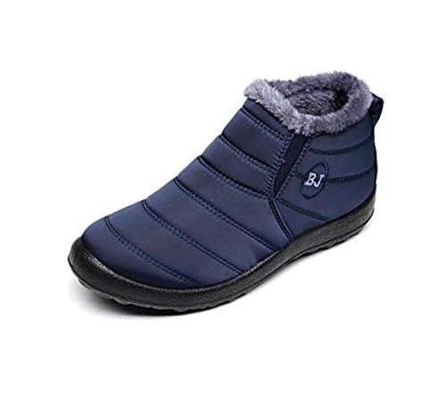QFYZYZ - Mocasines de Terciopelo para Hombre, Color Azul, Talla 36 EU
