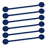 TwistieMag Strong Magnetic Twist Ties - The Deep Ocean Blue Collection - Navy Blue 6 Pack - Super Powerful Unique Solution For Cable Management, Hanging & Holding Stuff, Fidget Toy, Or Just For Fun!