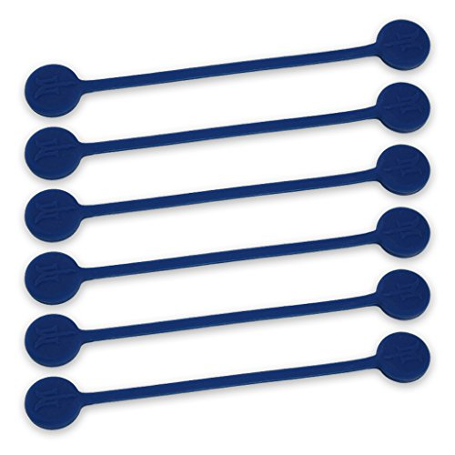 TwistieMag Strong Magnetic Twist Ties - The Deep Ocean Blue Collection - Navy Blue 6 Pack - Super Powerful Unique Solution for Cable Management, Hanging & Holding Stuff, Fidgeting, Or Just for Fun!