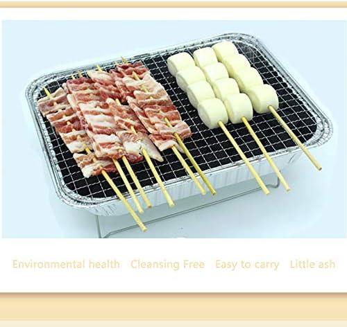 Griglia per Barbecue USA e Getta Griglia per Esterno, Barbecue per Picnic Mini Fumo di Carbone per Interni Mini Portatile, per Piccole Feste