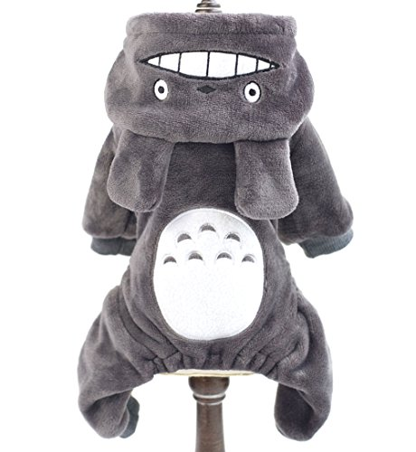 [SMALLLEE_LUCKY_STORE Pet Small Dog/Cat Fleece Totoro Jumpsuit Pajamas Coat Halloween Costume, Large,] (Business Suit Dog Costume)