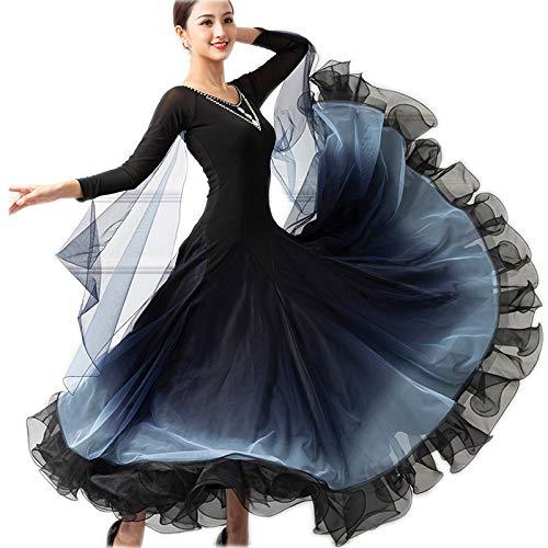 2019激安通販 garuda レディース社交ダンス衣装 ブラック 高級ダンスドレス ボリューム 社交ダンスワルツ 競技ワンピース ボリューム 3色 B07PBPC4VD B07PBPC4VD Medium|ブラック ブラック Medium, トバタク:aef8bd8a --- a0267596.xsph.ru