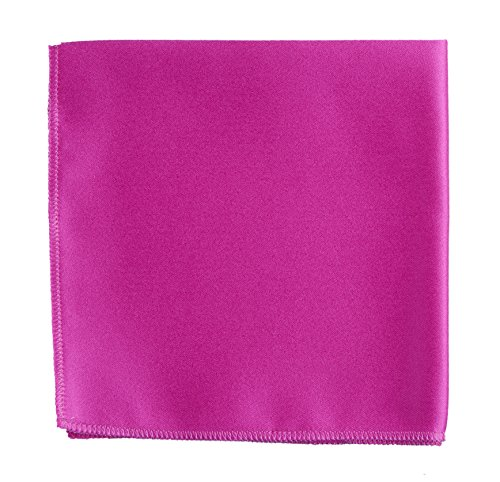 Pocket Square Handkerchief in Solid Colors Sized for Boys and Men by Tuxgear Inc (Magenta)