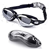 Letsfit Swim Goggles, No Leaking Anti-Fog Indoor Outdoor Swimming Goggles with UV Protective Mirrored Lenses for Women Men Youth Kids…