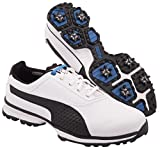 PUMA Men's Titanlite Golf Shoe, White/Black, 8.5 M US