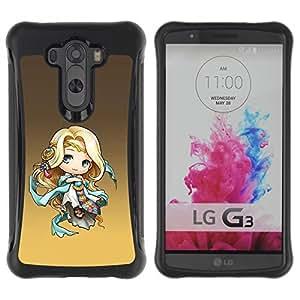 LASTONE PHONE CASE / Suave Silicona Caso Carcasa de Caucho Funda para LG G3 / Cute Fantasy Princess