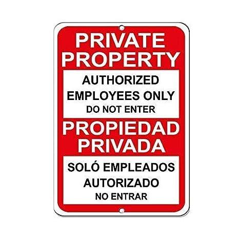 Cheyan Propiedad privada Solo empleados autorizados de ...