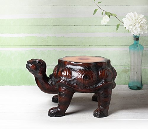 Wooden Stool Distinctive Turtle Figurine Ottoman Stool Handcrafted Sturdy Nursery Kids Room Furniture