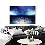 Basketball Canvas Print Wall Art Basketball Arena Court with Fans and Competition Theme