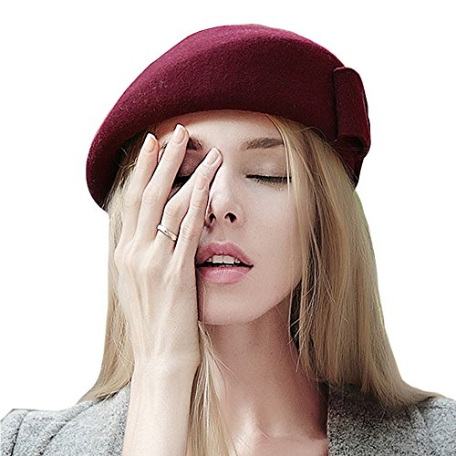 kekolin Wool Beret Hat Stylish Womens Warm Winter Hat Classic For Women