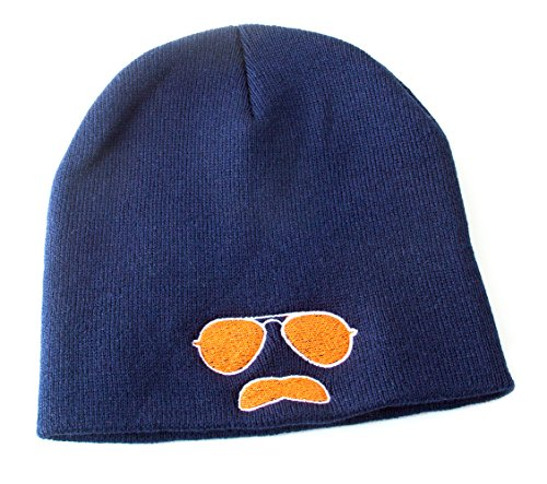 (Ditka Kids Gridiron Clothing Da Coach Aviator Hat (Navy Blue with Orange)